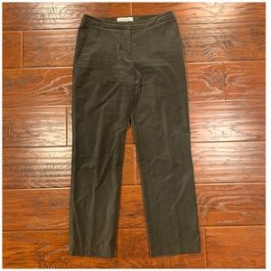 MAXMARA Olive Green 100% Cotton Pants